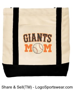 Giants Mom Canvas Tote Bag Design Zoom